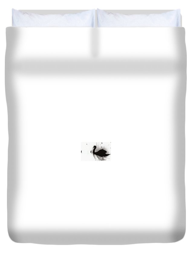 Black Swan Duvet Cover featuring the photograph Infrared Reflections by Kassandra Devlin