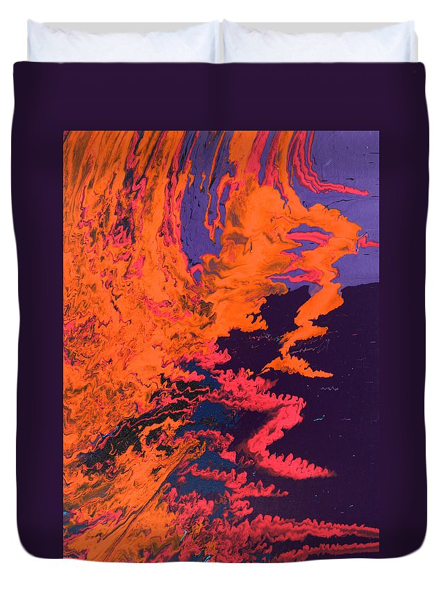 Fusionart Duvet Cover featuring the painting Initiative by Ralph White