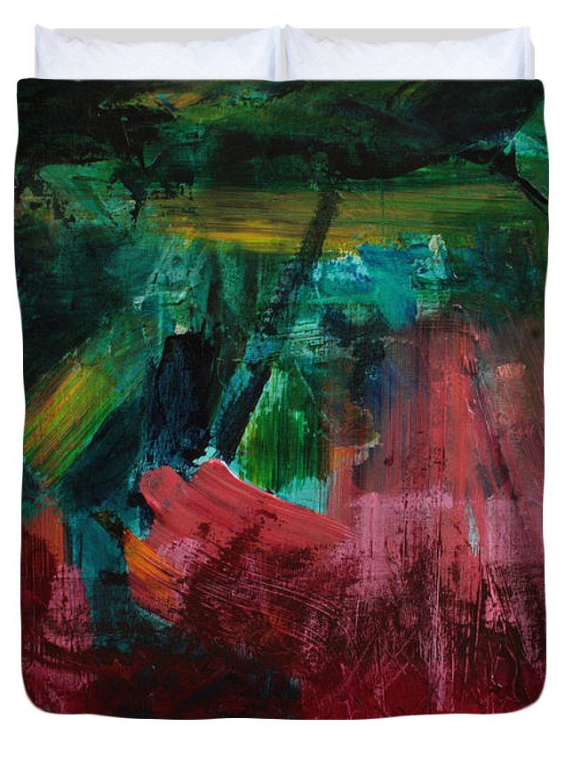 Art Duvet Cover featuring the painting Inner Landscape2 by Uwe Hoche