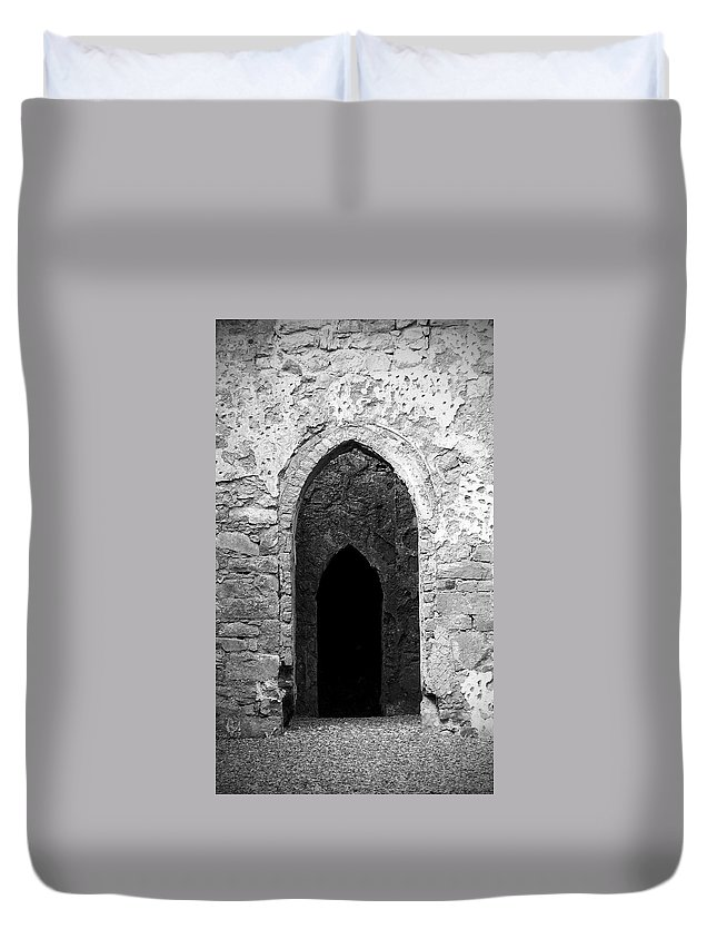Ireland Duvet Cover featuring the photograph Inner Sanctum Fuerty Church Roscommon Ireland by Teresa Mucha