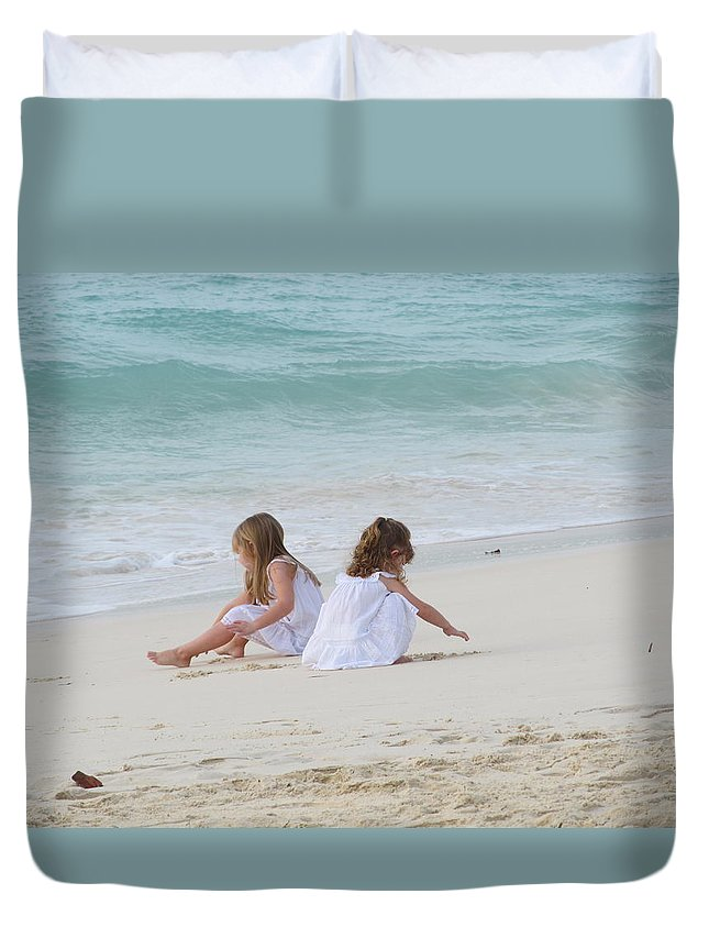 Aruba Duvet Cover featuring the photograph Innocence By The Sea by Gregory Armstrong