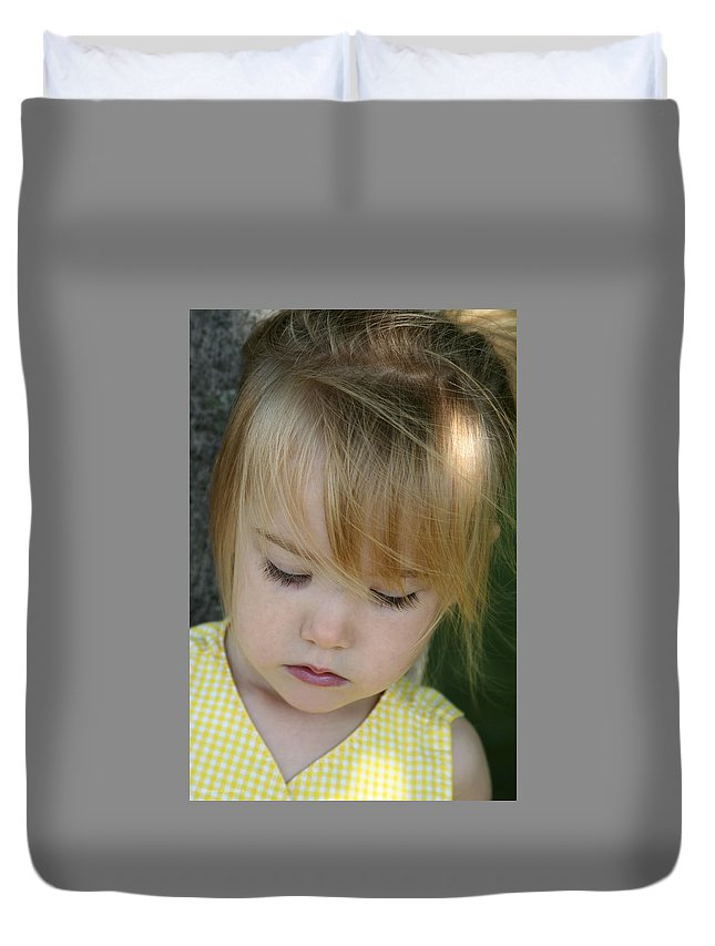 Angelic Duvet Cover featuring the photograph Innocence II by Margie Wildblood