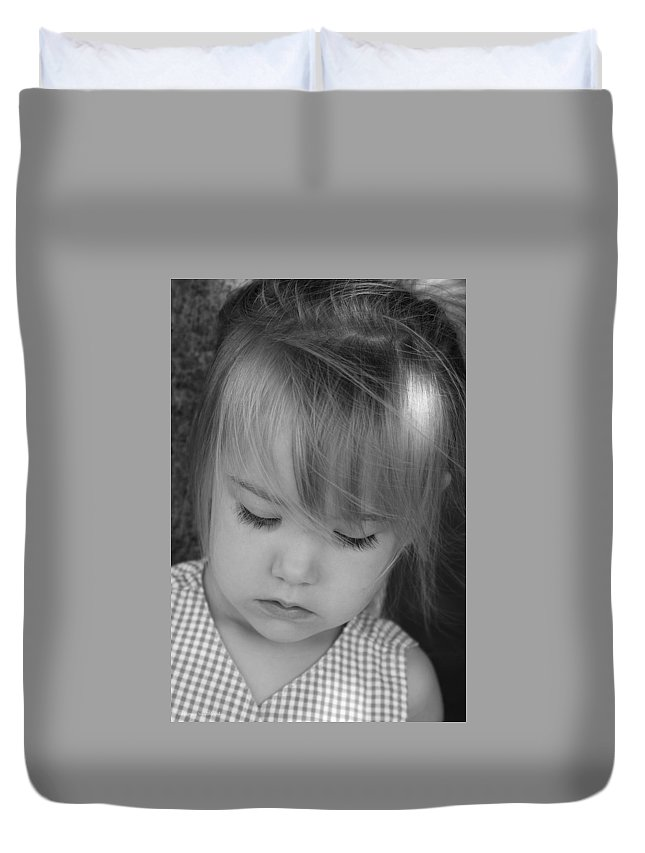 Angelic Duvet Cover featuring the photograph Innocence by Margie Wildblood