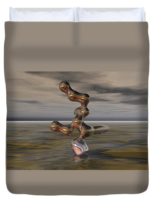 Digital Painting Duvet Cover featuring the digital art Innovation The Leap Of Imagination by David Lane