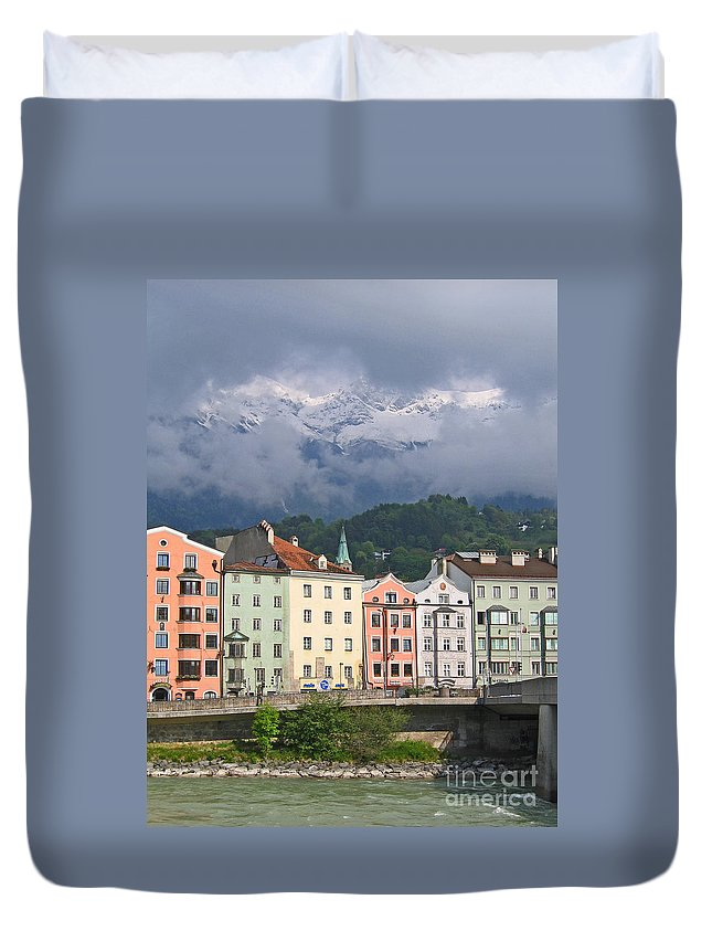 Innsbruck Duvet Cover featuring the photograph Innsbruck by Ann Horn