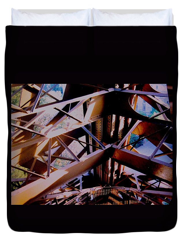 Eiffel Duvet Cover featuring the photograph Inside Eiffel by Ian MacDonald