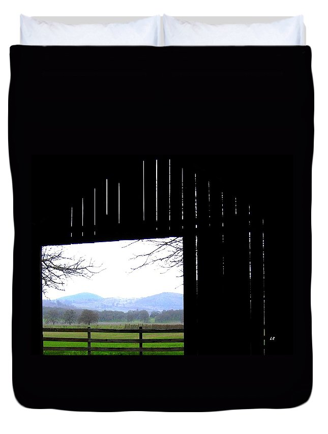 Barn Duvet Cover featuring the photograph Inside Out by Will Borden