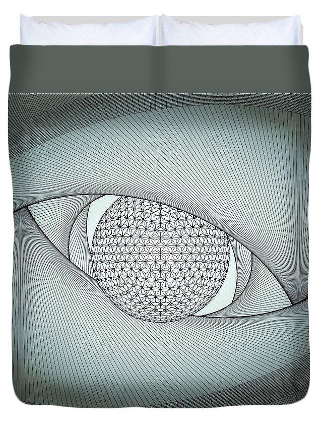 Eye Duvet Cover featuring the digital art Inside The Eye by Nenad Cerovic
