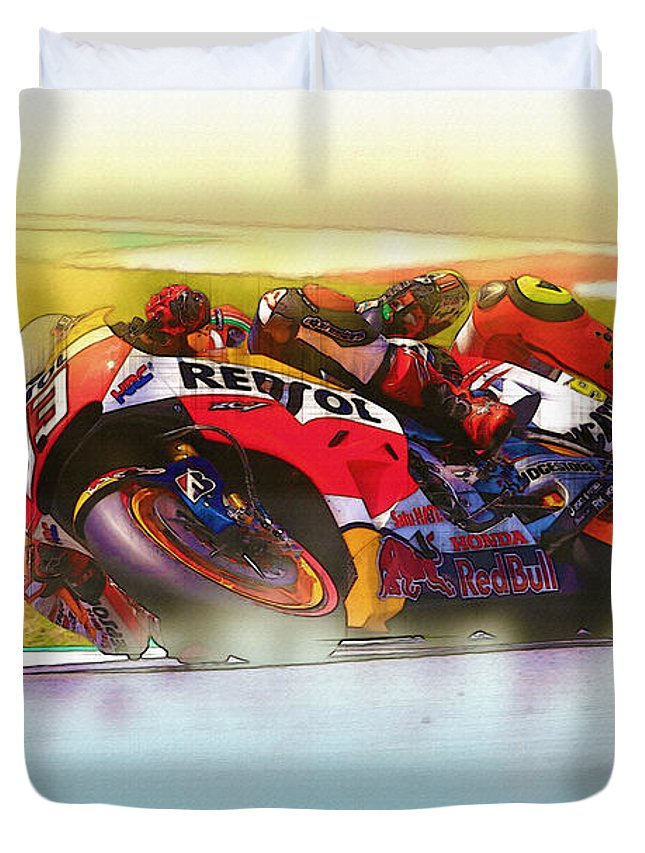 Spanish Duvet Cover featuring the digital art Inspired By by Don Kuing