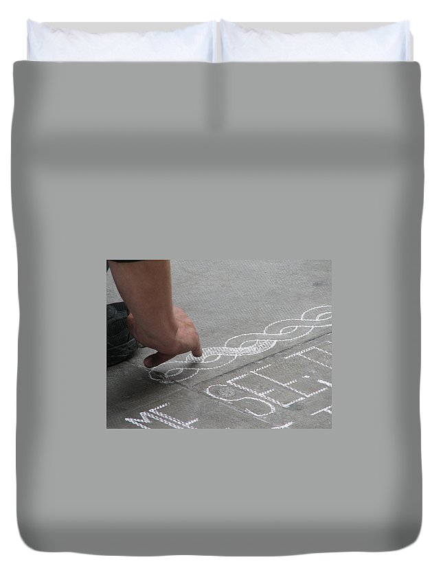 Dublin Duvet Cover featuring the photograph Integrity by Kelly Mezzapelle