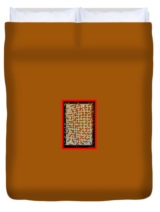 Intellectual Ameba Bacteria Synapse Duvet Cover featuring the digital art Intellectual Ameba Bacteria Synapse by Tony Adamo