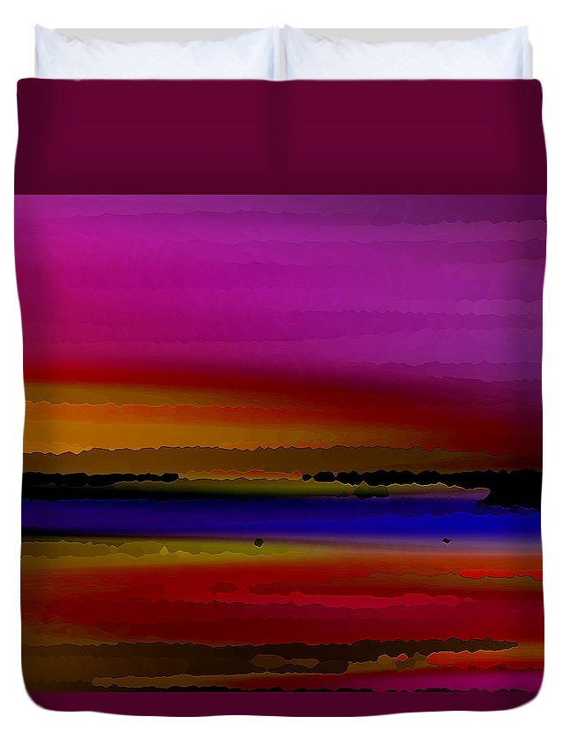 Abstract Duvet Cover featuring the digital art Intensely Hued by Ruth Palmer