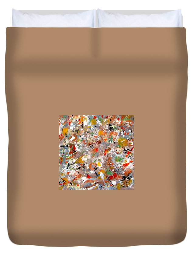 Modern Abstract Paintings Duvet Cover featuring the painting Interaction II by Diane Desrochers