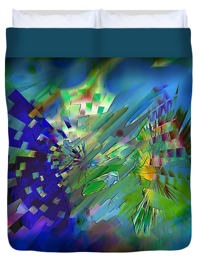 Ebsq Duvet Cover featuring the digital art Interception by Dee Flouton