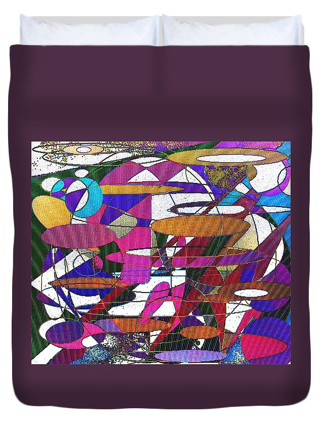 Abstract Duvet Cover featuring the digital art Intergalatic by Ian MacDonald