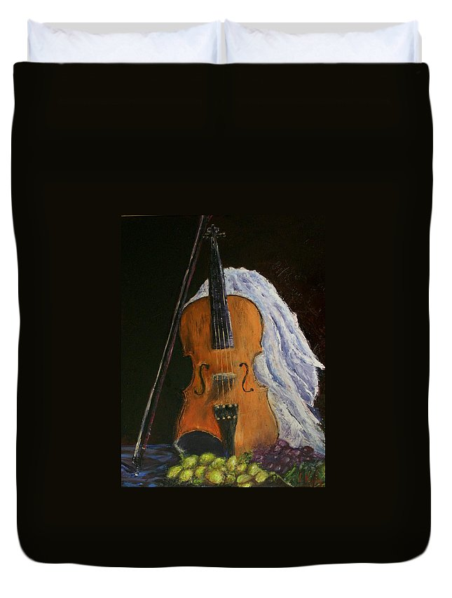 Original Duvet Cover featuring the painting Intermission by Stephen King