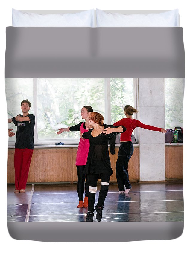 Moscow Duvet Cover featuring the photograph International Summer Dance School by Nikita Buida