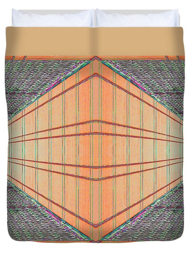 Architecture Duvet Cover featuring the photograph Intersect by Tim Allen