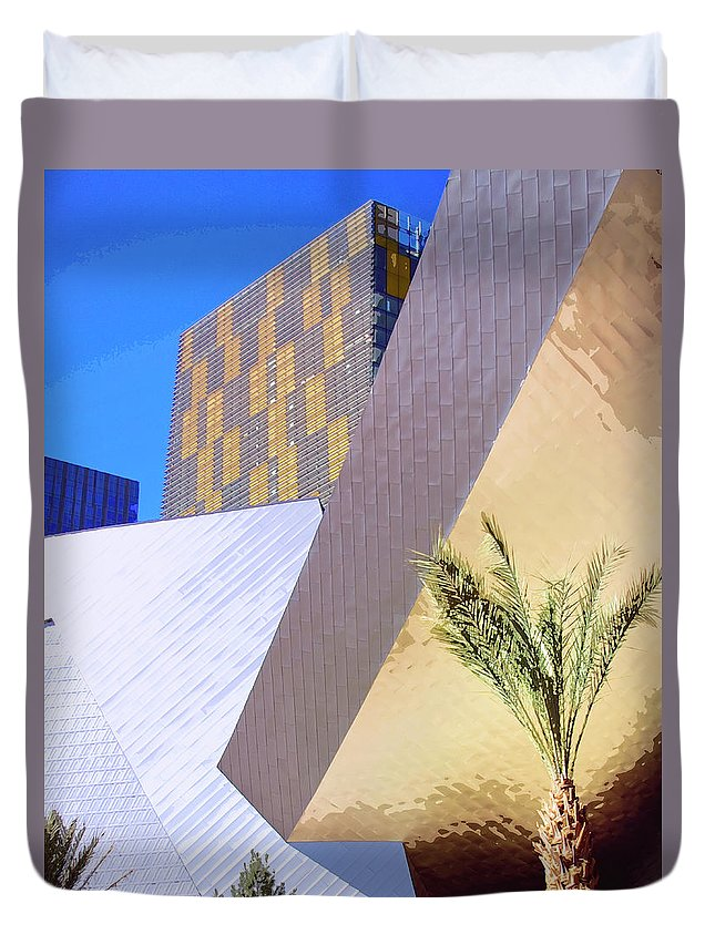 Intersection Duvet Cover featuring the photograph Intersection Number One Las Vegas by William Dey