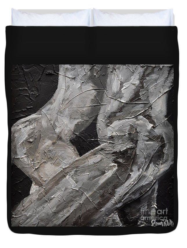 Bodies Duvet Cover featuring the painting Intertwined by Jennifer Klotz