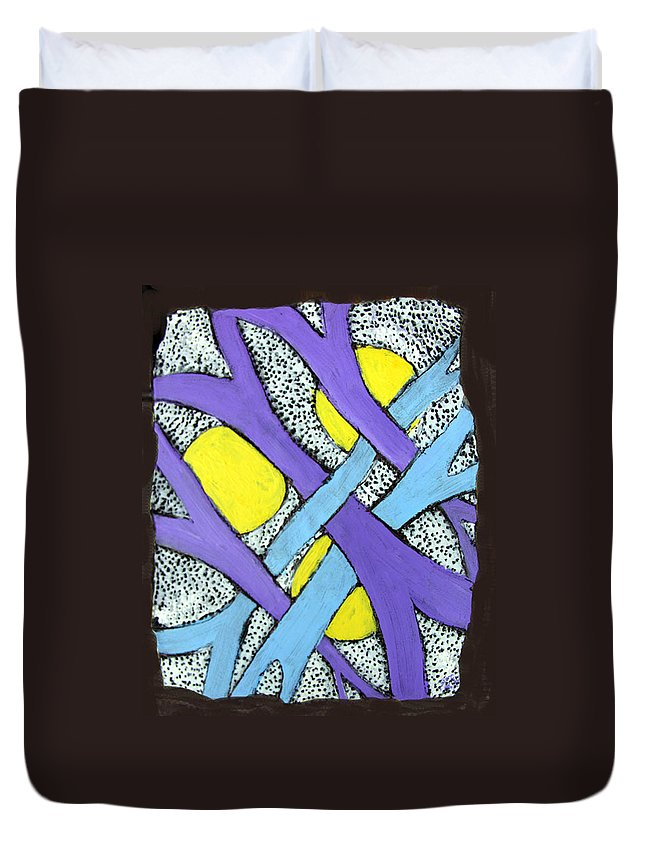 Abstract Duvet Cover featuring the painting Intertwined by Wayne Potrafka