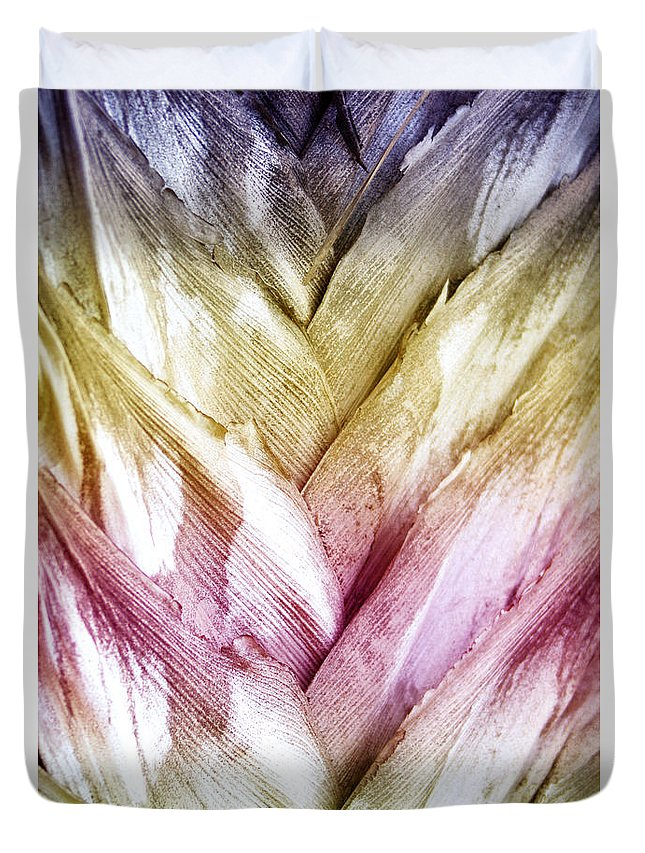 Nature Duvet Cover featuring the photograph Interwoven Hues by Holly Kempe