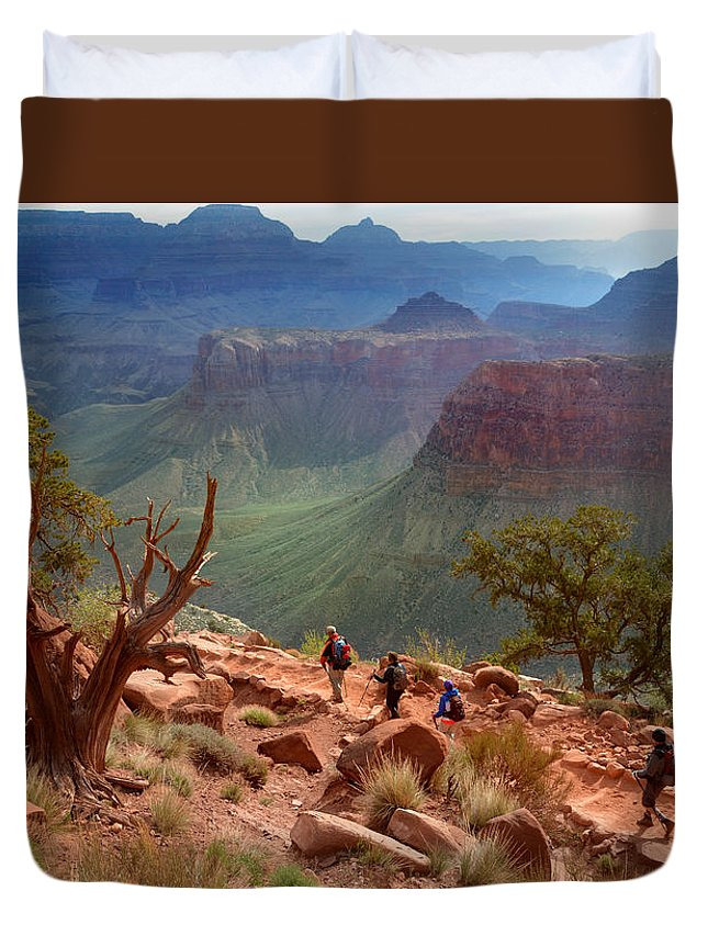 Grand Canyon Duvet Cover featuring the photograph Into The Canyonland by Martin Massari