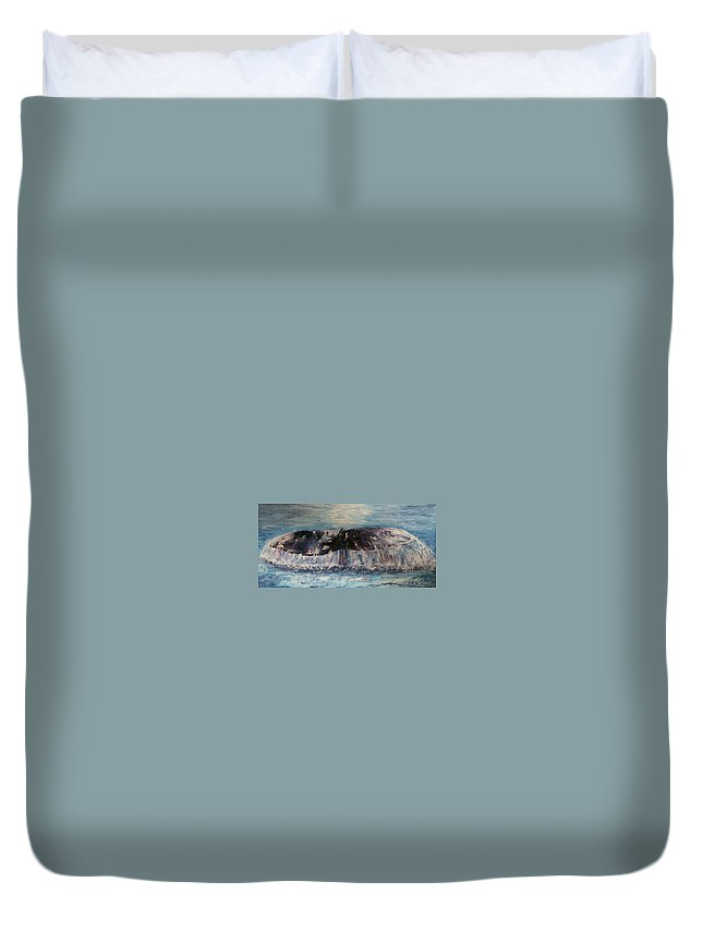 Seascape Duvet Cover featuring the painting Into The Deep by Stephen King