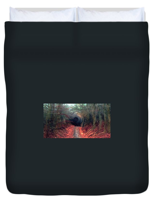 Forest Duvet Cover featuring the photograph Into The Forest by Linda Sannuti