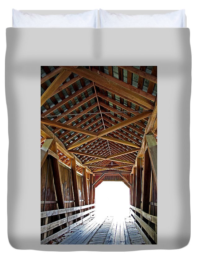 Light Duvet Cover featuring the photograph Into The Light by Margie Wildblood