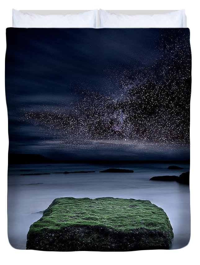 Night Duvet Cover featuring the photograph Into The Shadows by Jorge Maia