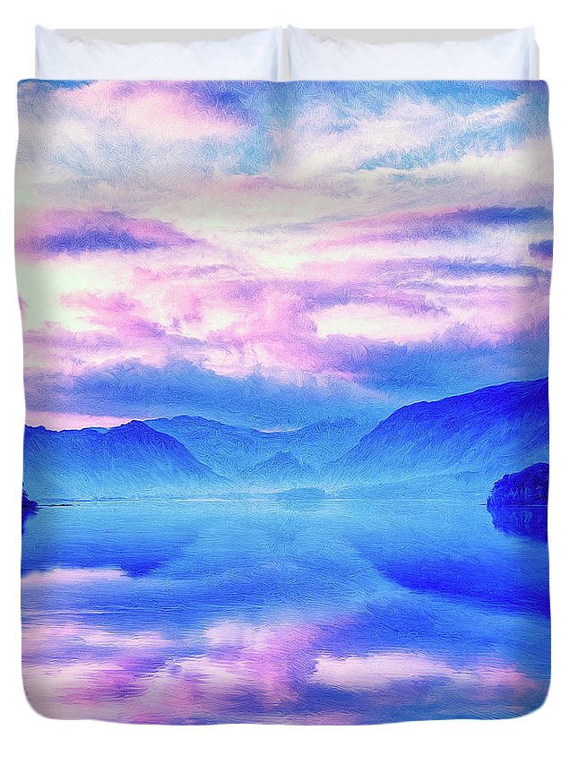 Into The Unknown Duvet Cover featuring the painting Into The Unknown by Dominic Piperata