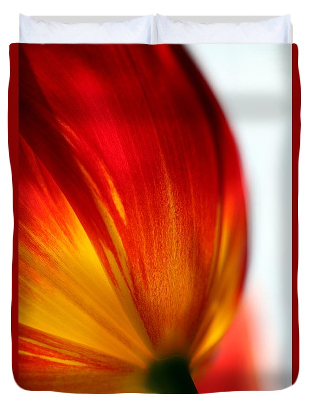 Tulip Duvet Cover featuring the photograph Introverted by Amanda Barcon