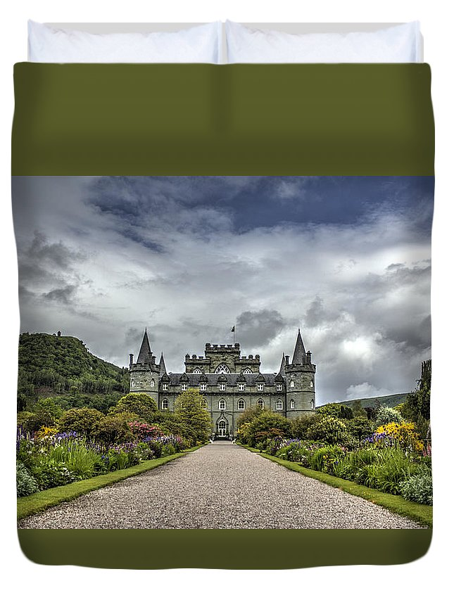 Inveray Duvet Cover featuring the photograph Inveray Castle by Chris Whittle