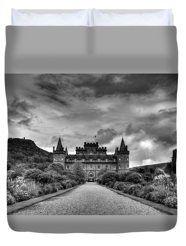 Inveray Duvet Cover featuring the photograph Inveray Grey by Chris Whittle