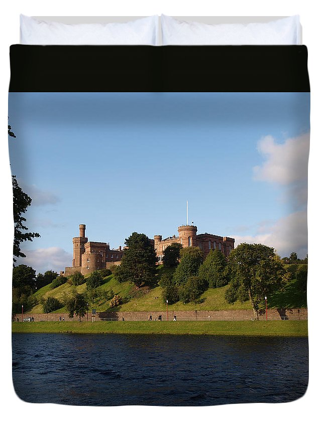 Inverness Duvet Cover featuring the photograph Inverness Castle by Michaela Perryman