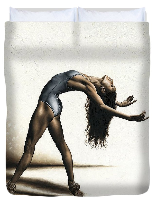 Dance Duvet Cover featuring the painting Invitation To Dance by Richard Young
