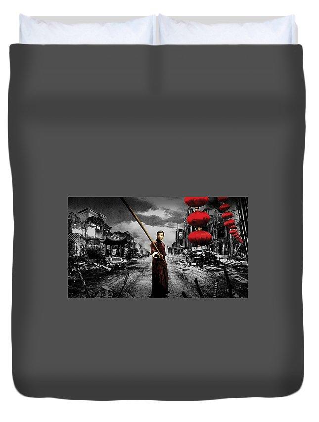 Ip Man Duvet Cover featuring the digital art Ip Man by Bert Mailer