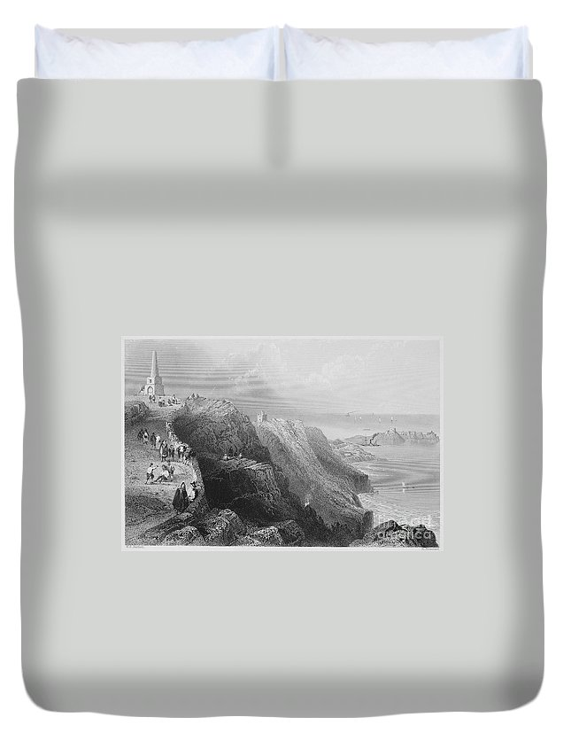 1840s Duvet Cover featuring the photograph Ireland: Killiney Hill by Granger