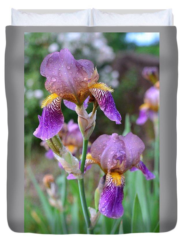 Iris Duvet Cover featuring the photograph Iris by Colleen Phaedra