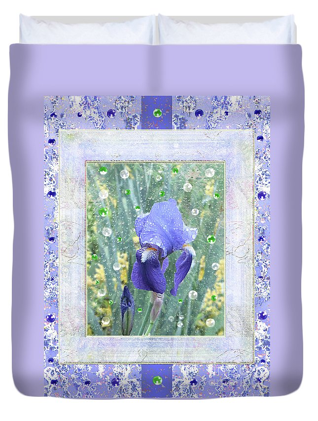 Iris Duvet Cover featuring the photograph Iris by Mira Ostojic