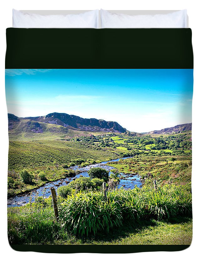 Republic Of Ireland Duvet Cover featuring the photograph Irish Fields Of Green by Charrie Shockey