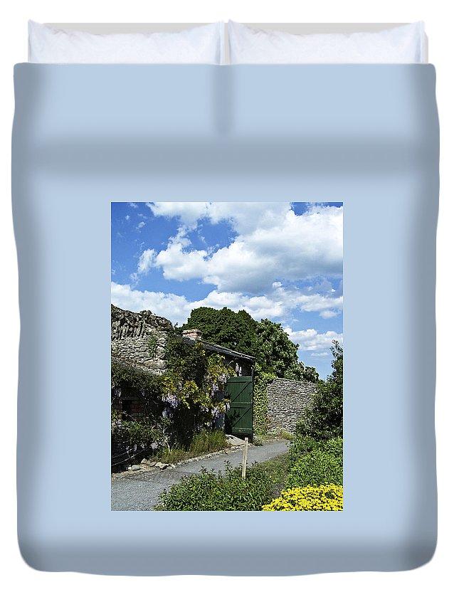 Irish Duvet Cover featuring the photograph Irish Garden County Clare by Teresa Mucha