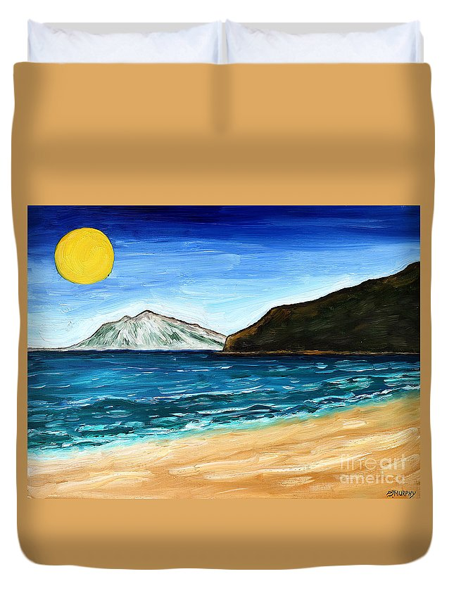 Breezy Duvet Cover featuring the painting Irish Landscape 21 by Patrick J Murphy