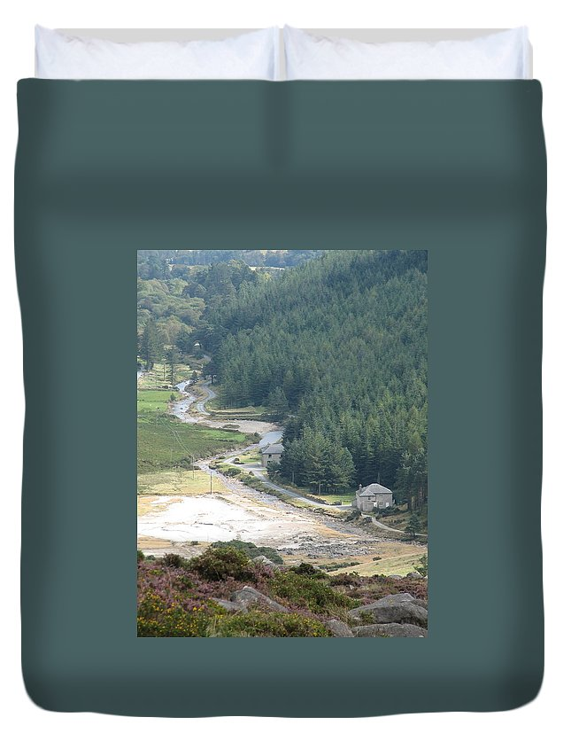 Ireland Duvet Cover featuring the photograph Irish Valley by Kelly Mezzapelle