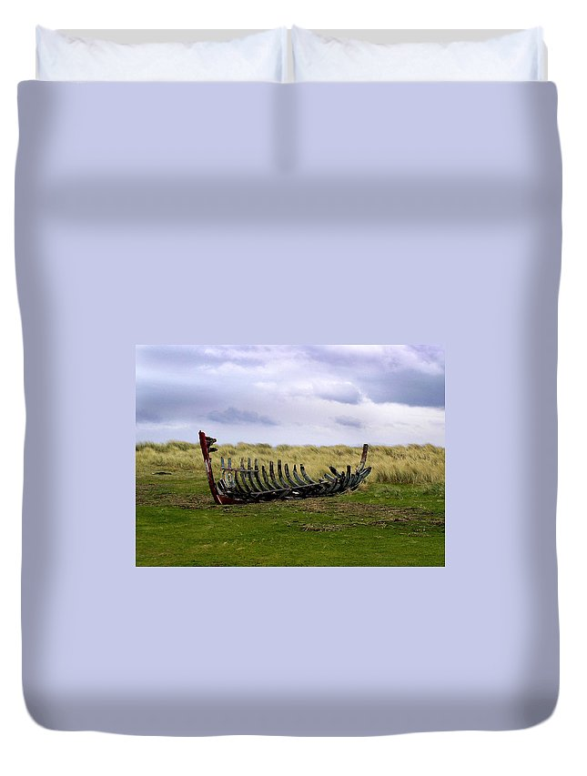 Ireland Duvet Cover featuring the photograph Irish Wreck by Charles Harden