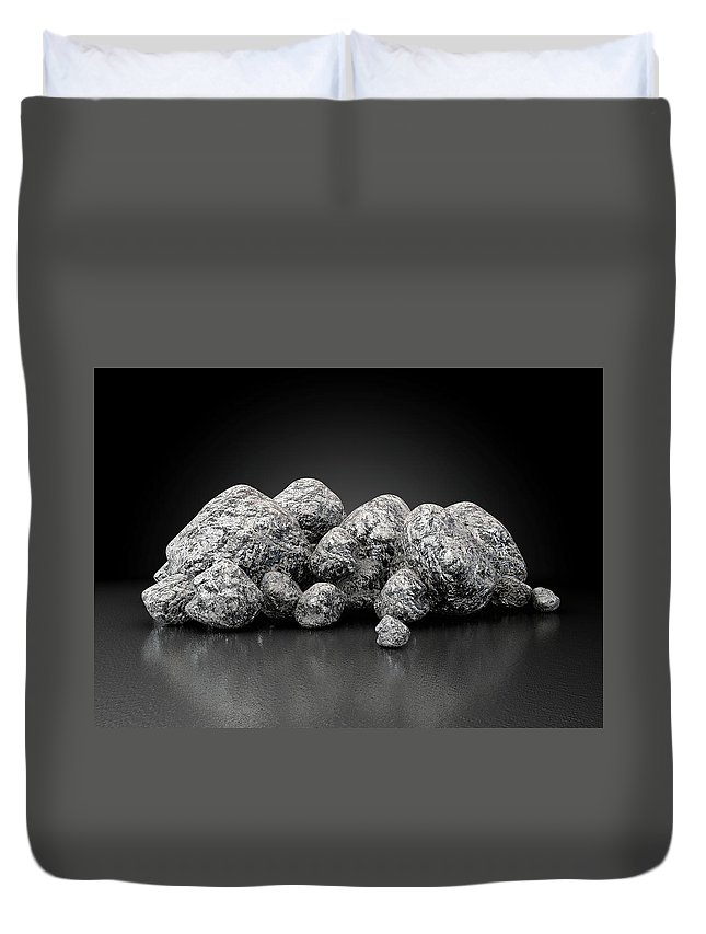 Iron Duvet Cover featuring the digital art Iron Ore Nugget Collection by Allan Swart