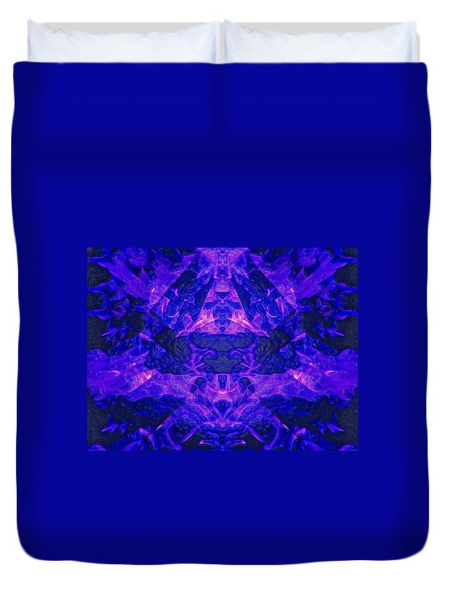 Night Duvet Cover featuring the photograph Irradescent Ice by Mark Sellers