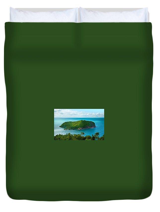 Island Duvet Cover featuring the digital art Island by Dorothy Binder