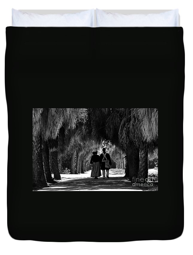 Historic Duvet Cover featuring the photograph Island History by David Lee Thompson